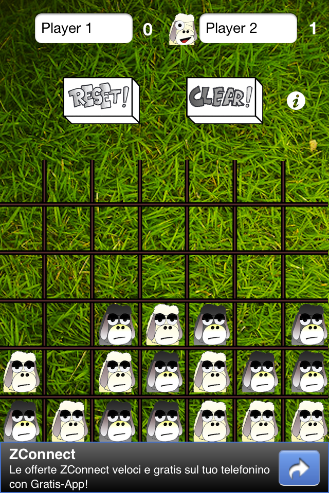 Screenshot 4 Sheeps in a row